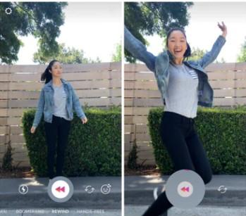 как поставить воспроизведение назад или rewind в instagram stories